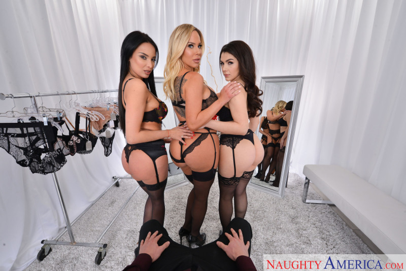 "Anissa Kate, Olivia Austin, Valentina Nappi in ""The Dressing Room"""