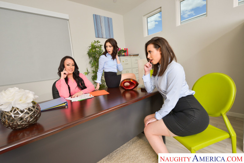 "Casey Calvert , Jane Wilde , Jennifer White in ""The Anal Office"""